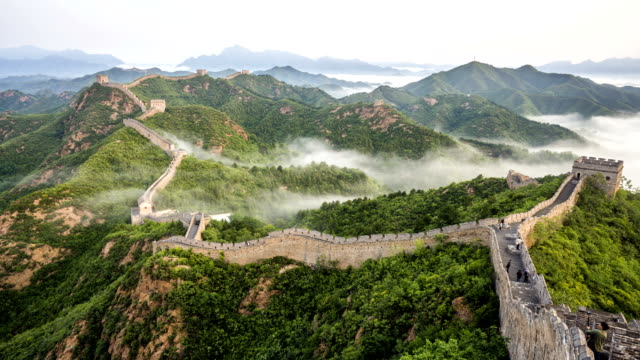 Great Wall of China time lapse video