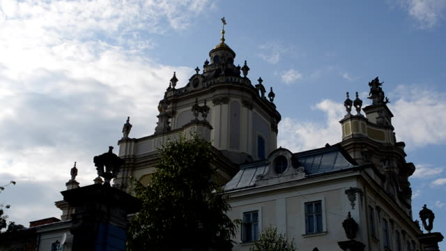 Greco-catholic cathedral of Lviv. Lviv, Ukraine. video