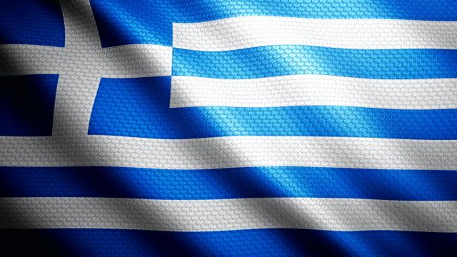 Greece Flag 4K video