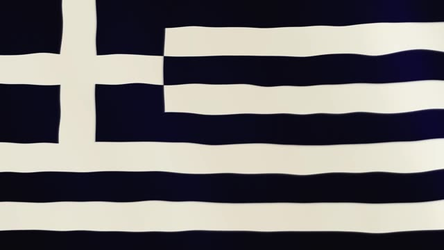 Greece flag waving animation. Full Screen. Symbol of the country video