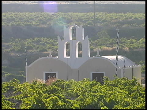 Greece: Greek Islands Traditional Church Building in Vineyard video