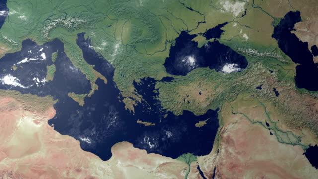 grecja wyświetlanym po ziemi zoom (z alfa matowy - attyka grecja filmów i materiałów b-roll