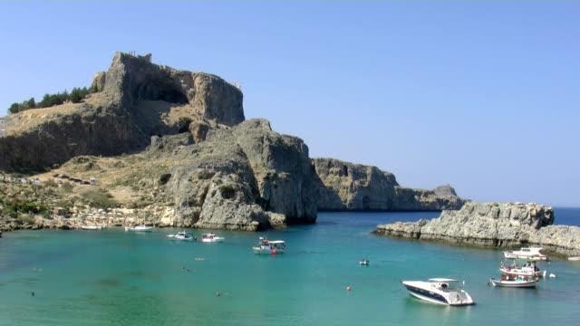 Greece, Rhodes, Lindos St. Pauls bay video