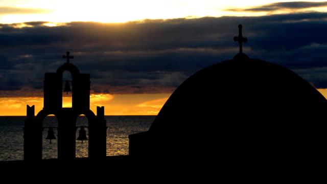 Greece Santorini romantic sunset video
