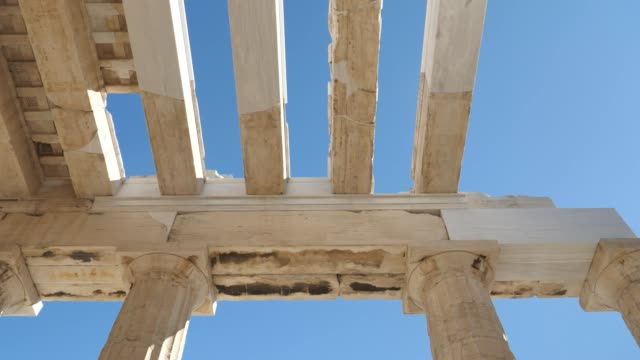 greek architecture structure of the acropolis, athens, greece - greek architecture stock videos & royalty-free footage
