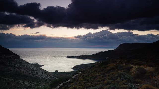 greek coastline on peloponnese mani, time lapse - пелопоннес стоковые видео и кадры b-roll