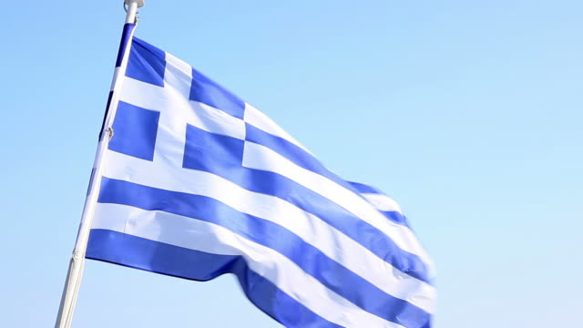 HD: Greek flag in wind video
