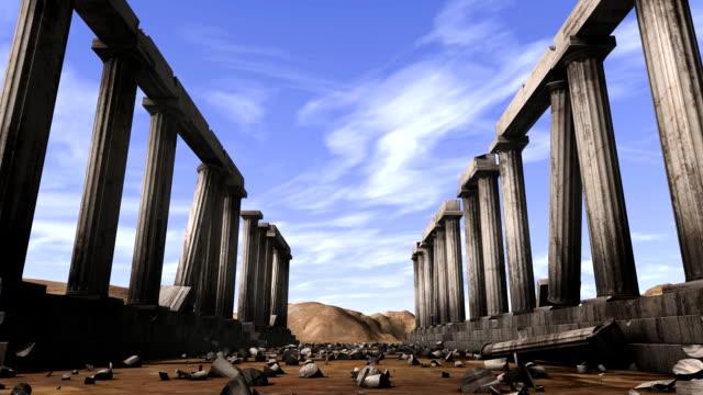 Greek pillars with depth-of-field video