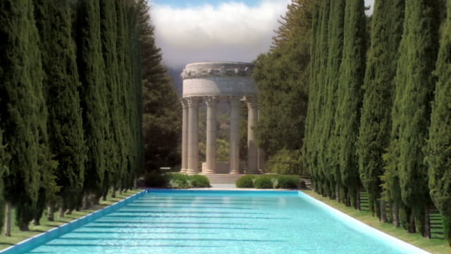 Greek Temple Reflecting Pool video
