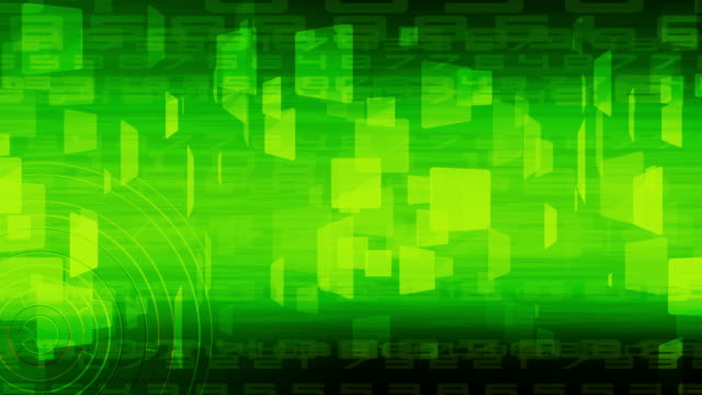 green abstract business and technology for background,loopable video