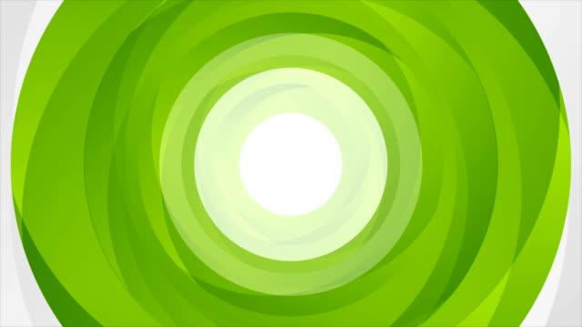 Green abstract circle shapes looping video animation video