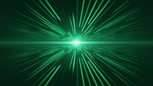 Green abstract technology digital background perspective with light