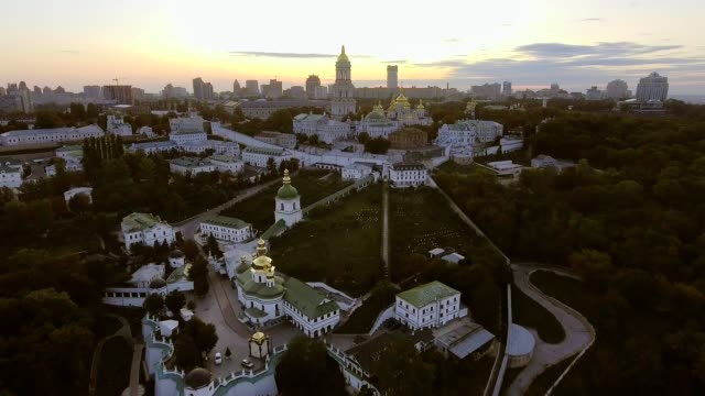 Green and beautiful center of Kiev, Ukraine video