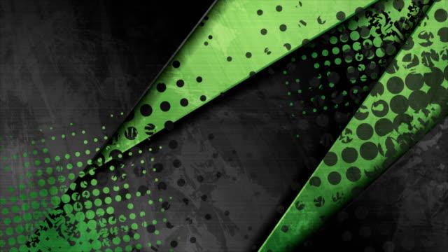stockvideo's en b-roll-footage met groen en zwart contrast collectieve abstracte motieachtergrond - halftint