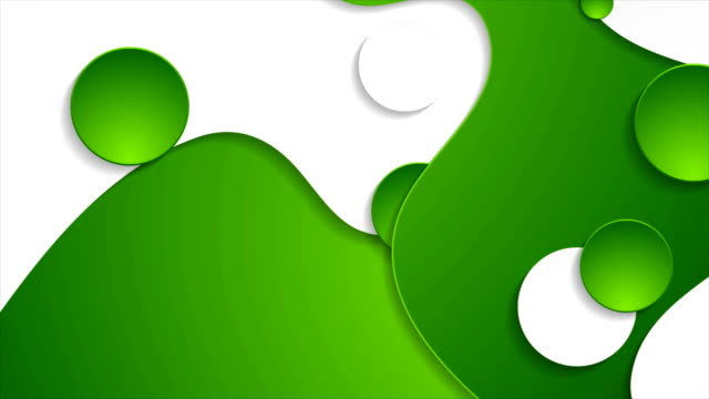 Green and white abstract wavy corporate motion background