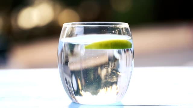 Green Apples Splashing Into Water video