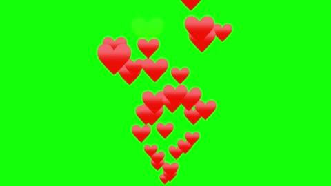 vídeos y material grabado en eventos de stock de fondo verde con forma de corazón en movimiento - ornamentado