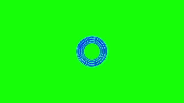 Green background with moving spirals Circle shape