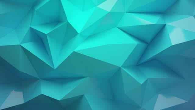 grön bakgrund med polyeder 4k - designelement bildbanksvideor och videomaterial från bakom kulisserna
