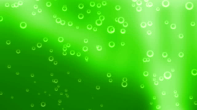 Cerveza verde burbujas en bucle vídeo (HD) - vídeo