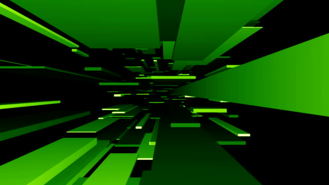 Green Blocks Tunnel Loop | Abstract Futuristic Animation video