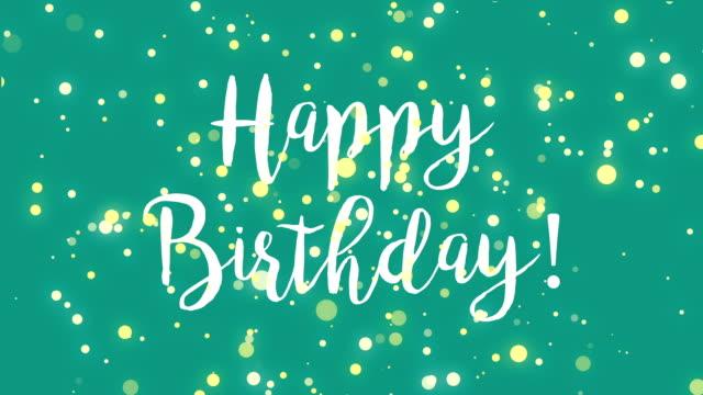 Carte de voeux joyeux anniversaire vert bleu sarcelle - Vidéo