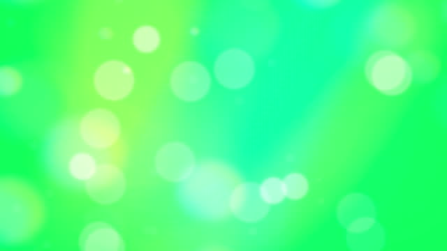 Green Bokeh Circles Abstract Background video