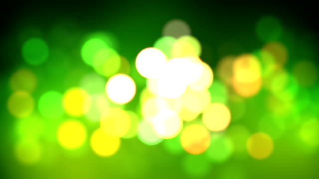 Green bokeh loop video