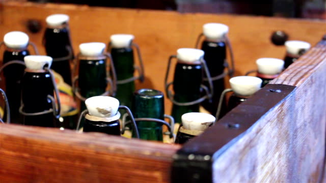 Green bottles with a vintage cap video