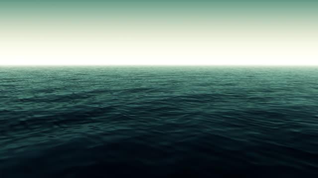 Yeşil sakin okyanus sahne video