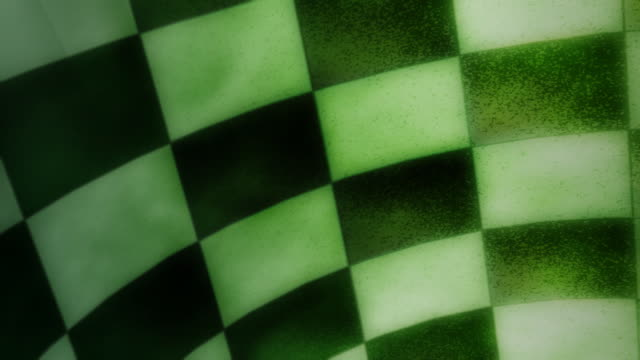 Green checkerboard video