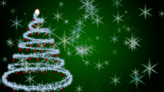 Fondo de Navidad verde - vídeo