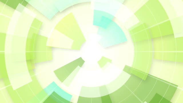 green circular segments loop background video