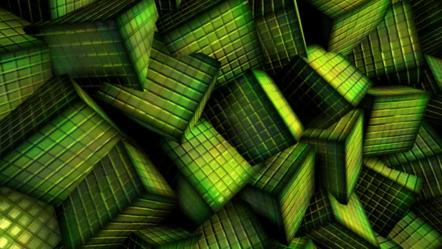 Green cubes video