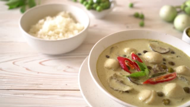 green curry with fish ball video