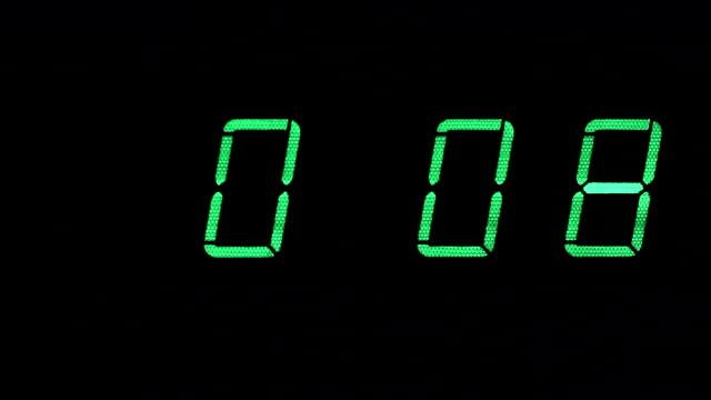 Green Digital Countdown video