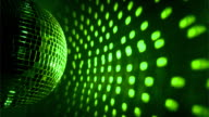istock Green disco ball background 453335975