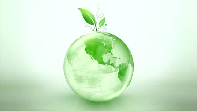 vídeos de stock e filmes b-roll de verde terra globo de fiação - green world