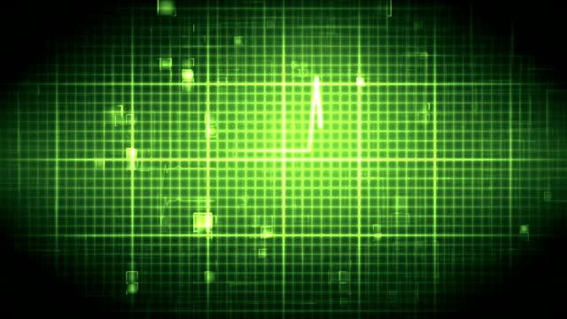 vídeos de stock e filmes b-roll de ecg em movimento fundo verde - coração fraco