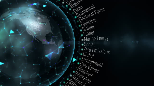 Green Economy Terms Loop animation with terms about Green Economy sustainable living stock videos & royalty-free footage