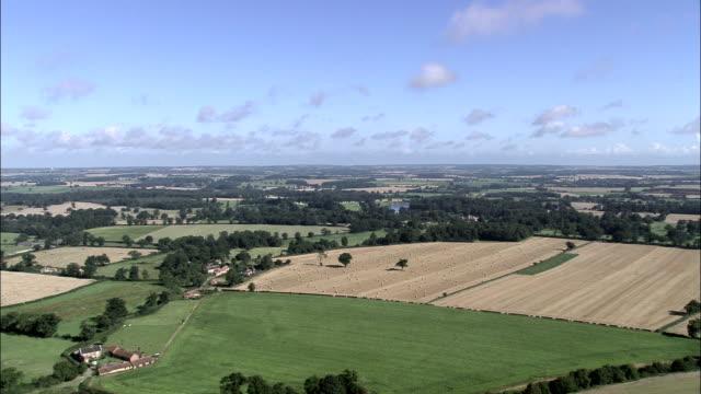 Green English Countryside - Aerial View - England, Norfolk, Broadland, United Kingdom video