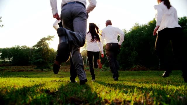 グリーン環境ビジネスコンセプトの人々と自然 - 独立点の映像素材/bロール