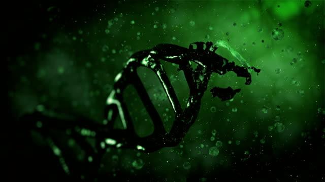 4K- Green Evolution DNA  - Stock video video