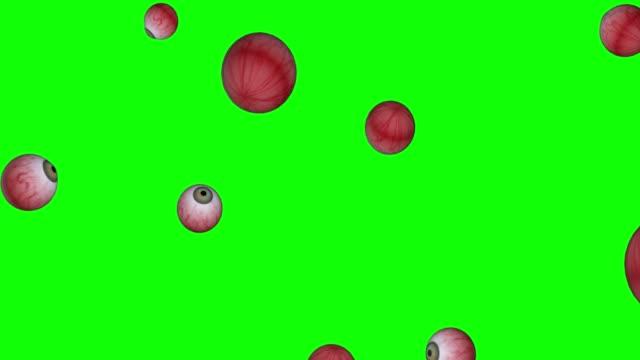 vídeos de stock, filmes e b-roll de olhos verdes modelo de vidro humano 3d caindo animação de tela verde 3d - ortopedia