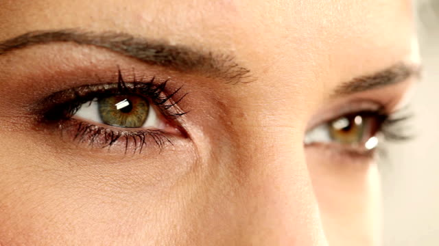 Green eyes. Green eyed woman. Video. mascara stock videos & royalty-free footage