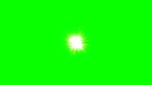 Video Green fireworks holiday background, Green Screen Chromakey