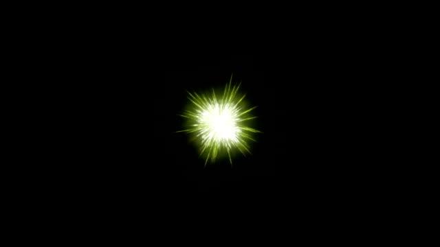 vídeos de stock e filmes b-roll de green fireworks holiday background, on black - aniversário especial
