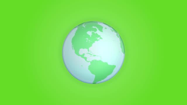 green globe. loop - ekvatorn latitud bildbanksvideor och videomaterial från bakom kulisserna