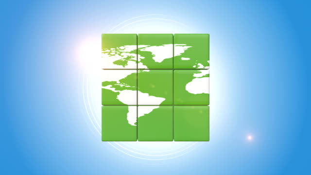 Green Globe Shape Intelligence Cube video