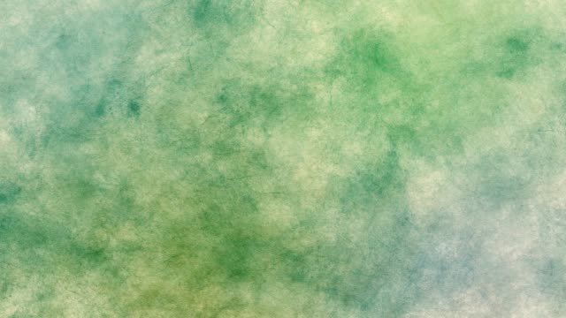Green Grunge Cloudy Motion Background with Particles